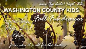 Washington County Kids Fall Fundraiser Sept 23