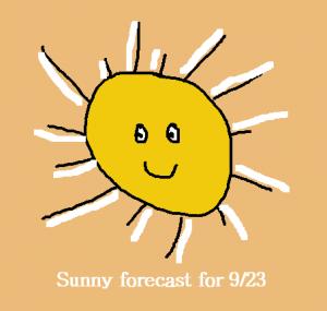 sunny forecast for 9/23